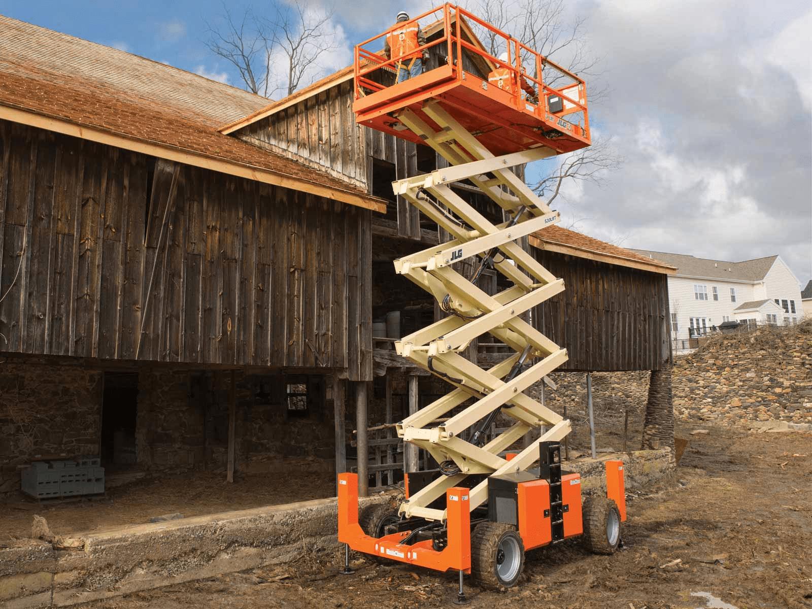 hight resolution of jlg 530lrt rough terrain scissor lift