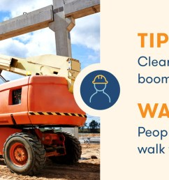 aerial lift safety clear people from the boom lift work zone [ 1510 x 530 Pixel ]