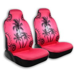 Hawaiian Chair Covers Ultimate Game Front Pair Seat Palm Trees Island Hawaii Pattern In