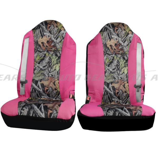 Camouflage Hawg Camo Seat Cover 2 Pc Set Cars Trucks Pink