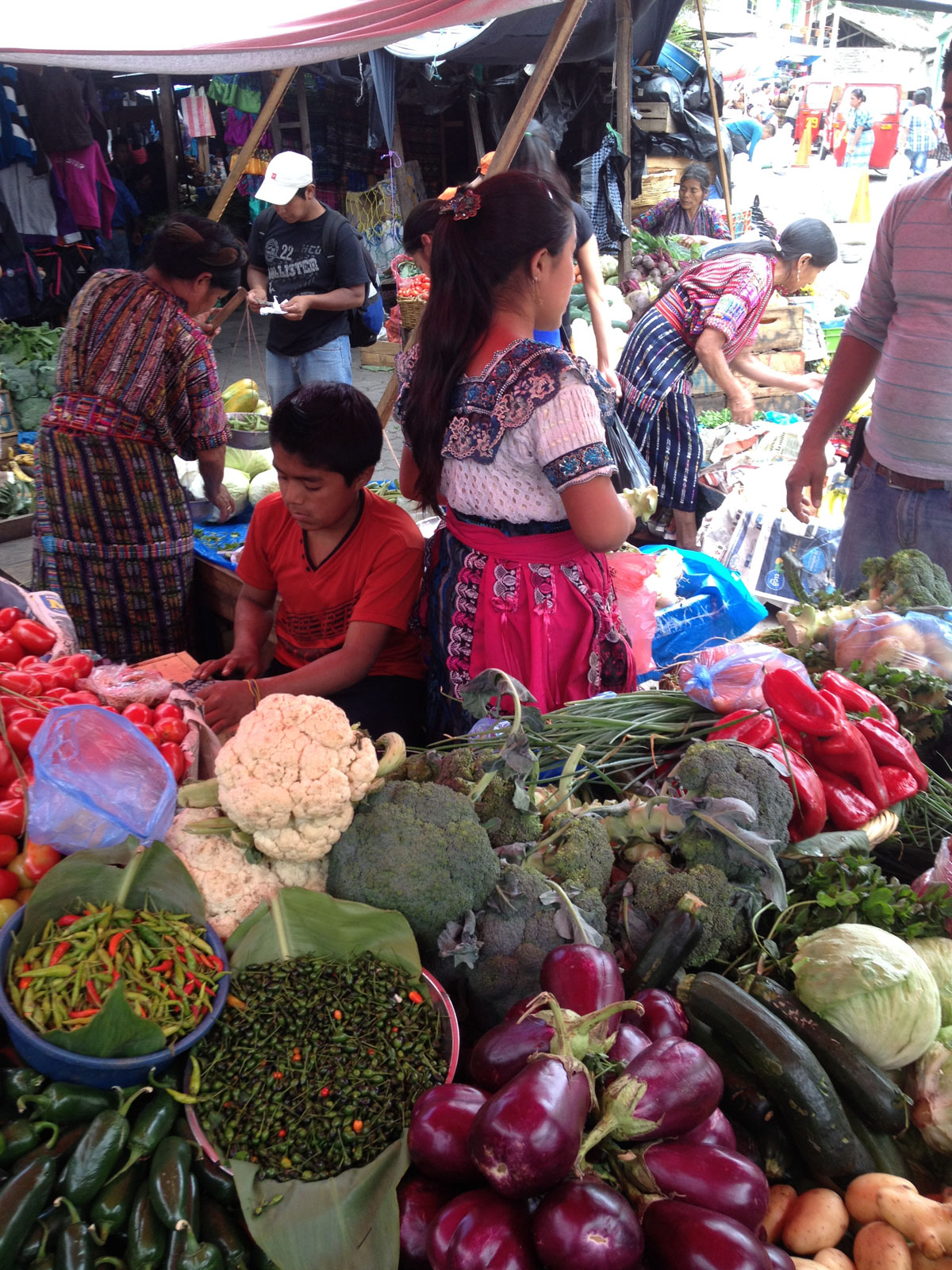 Local market in Panajachel, Guatemala
