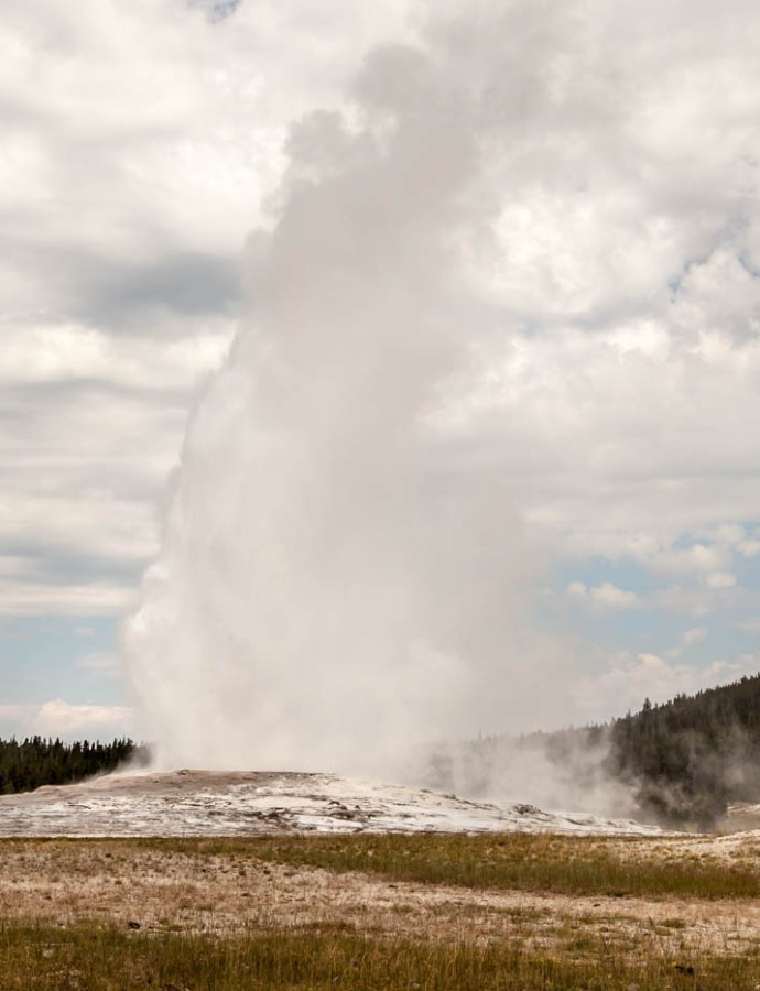 Old Faithful at Yellowstone National Park is Still Faithful After 148 Years