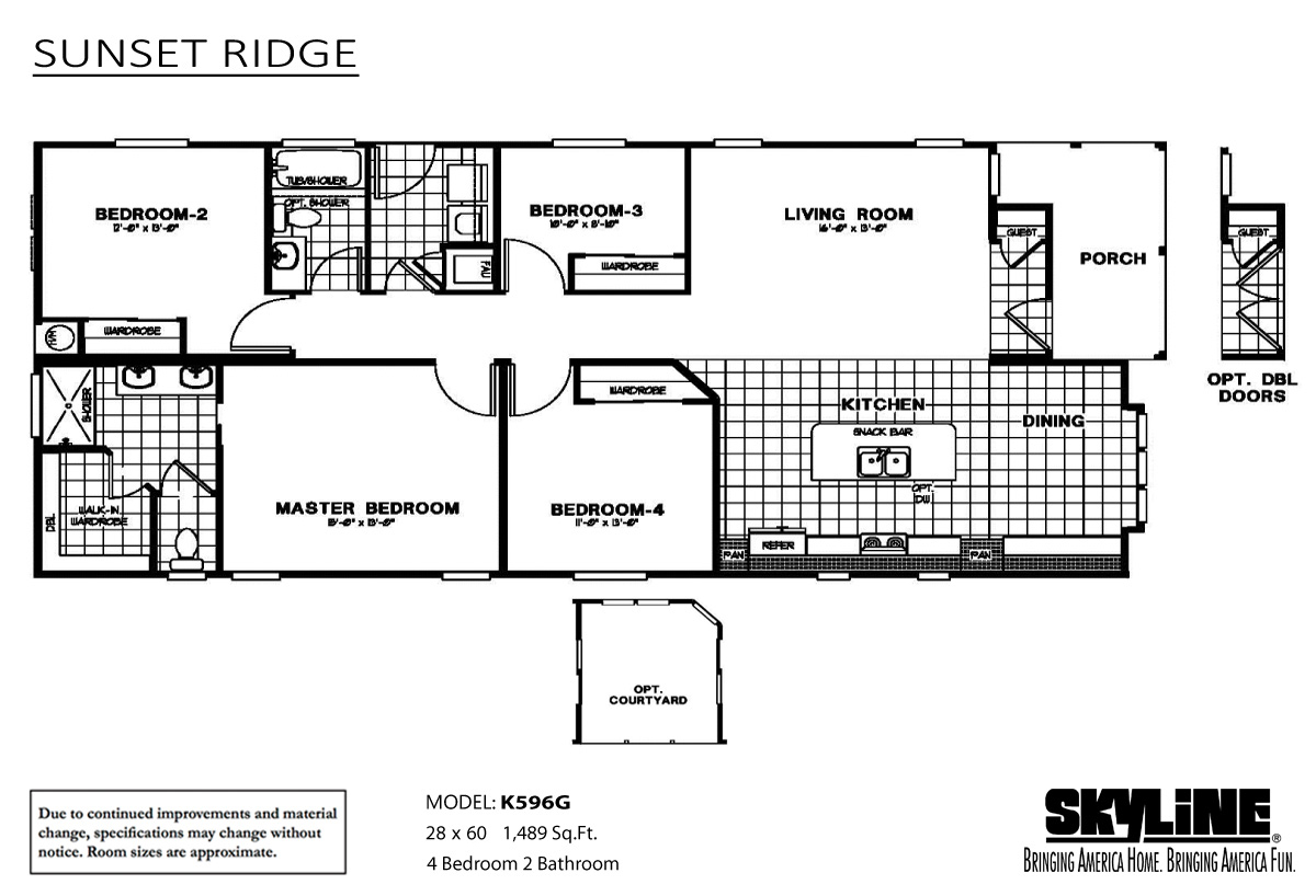 Sunset Ridge/K596G Home by Ideal Manufactured Homes