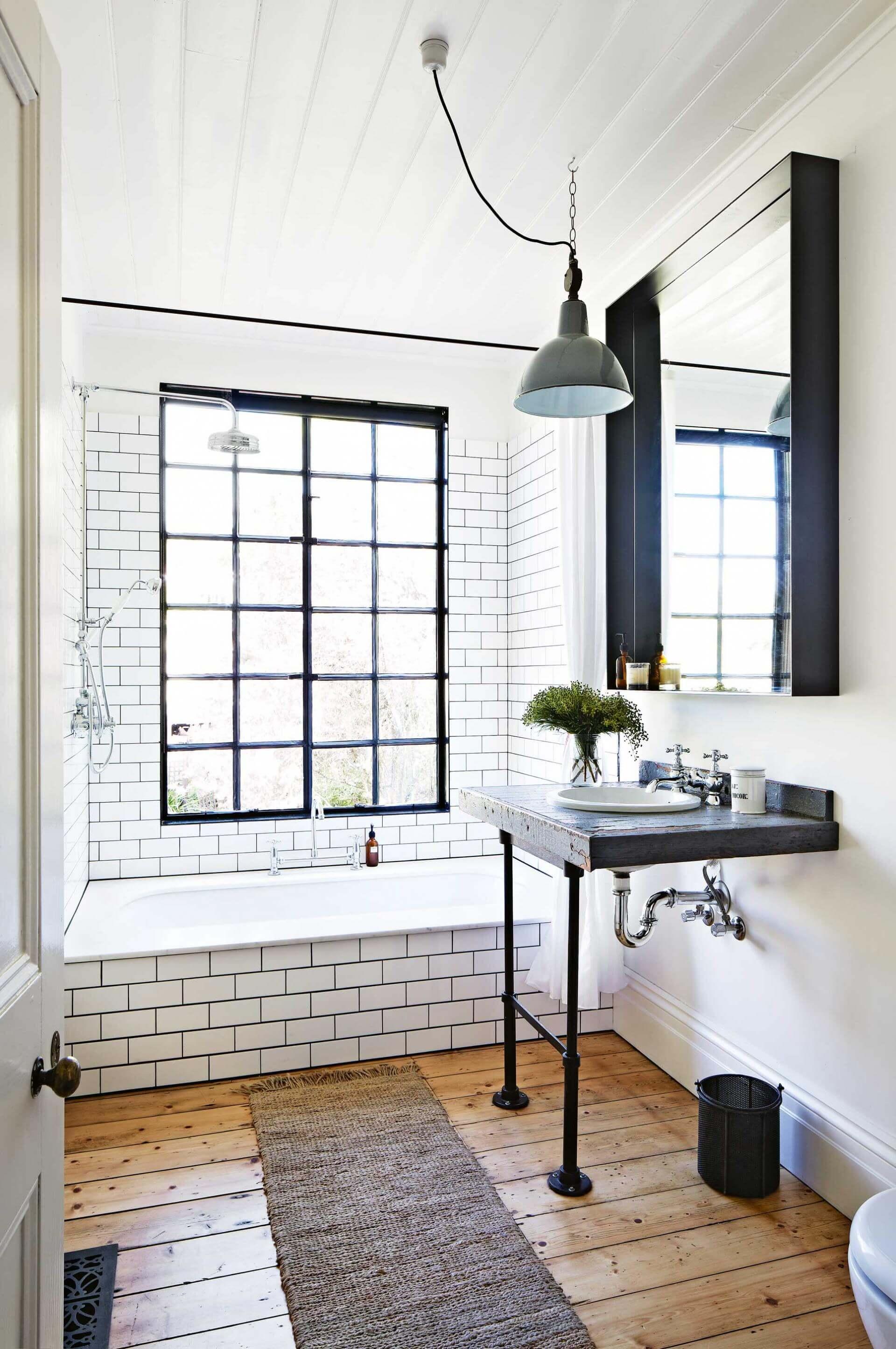 10 stunning industrial bathroom ideas