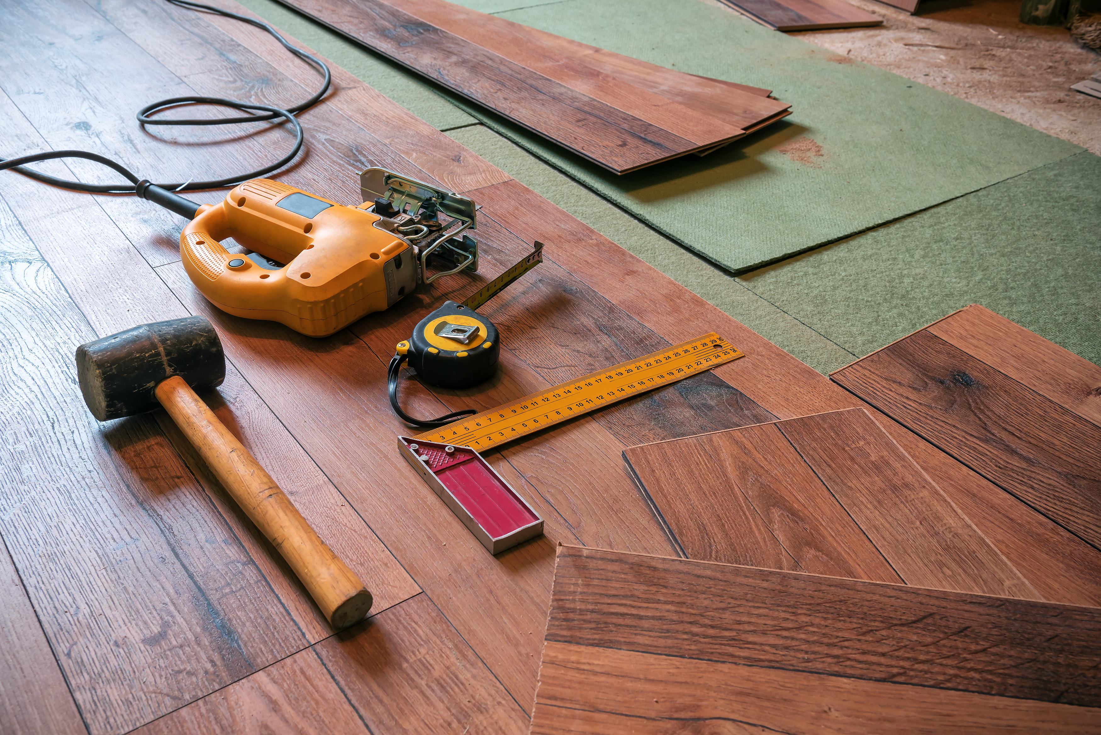 how to install peel and stick vinyl flooring over an existing floor