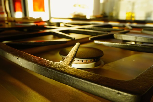 Removing Brown Buildup on Gas Stove Tops