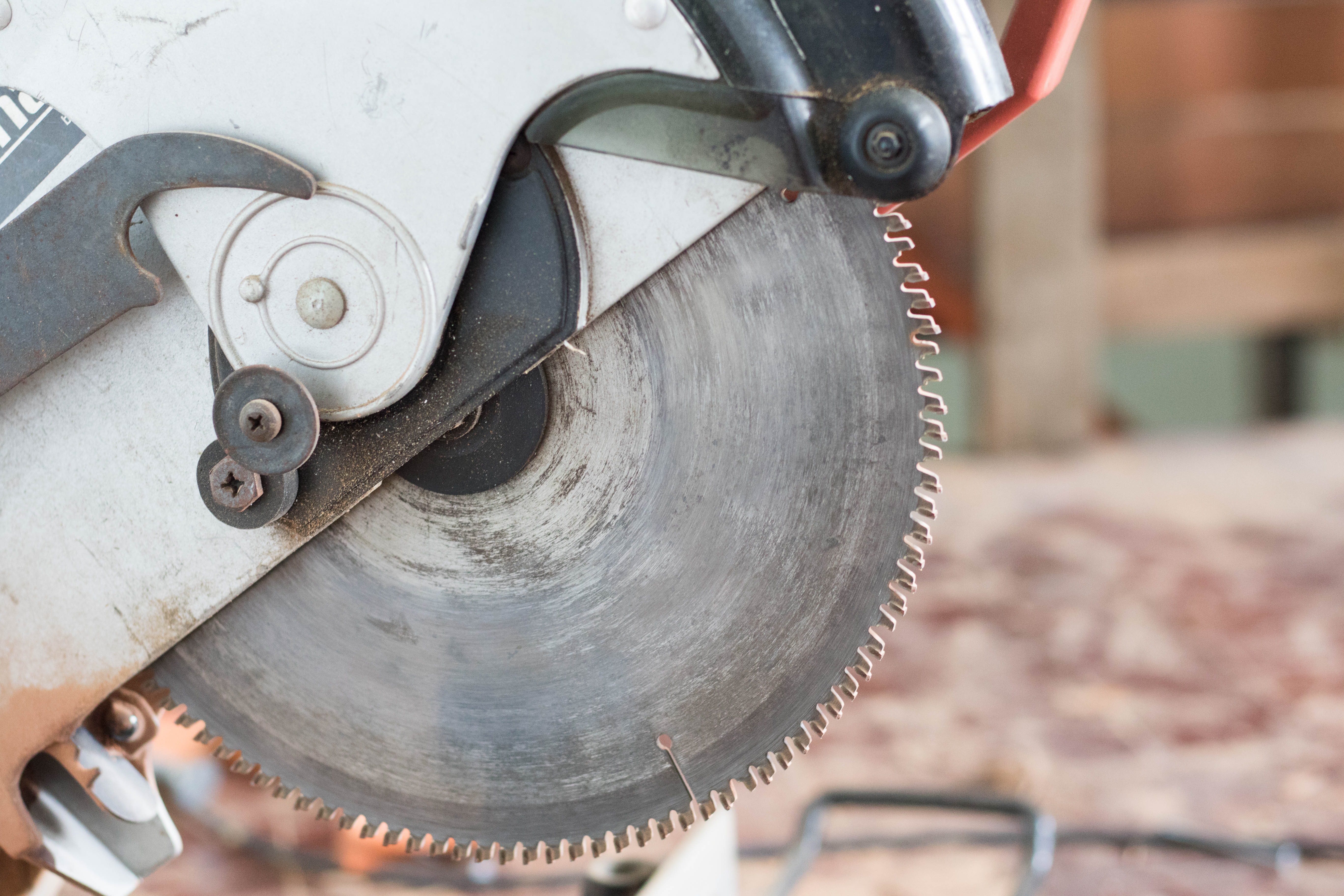 Cutting Cement Blocks With A Chisel