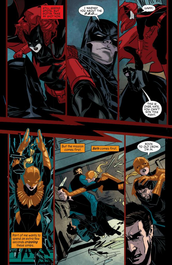 Batwoman versus Batman - Hawkfire versus the DEO