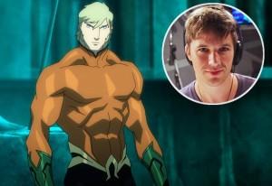 Aquaman and his voice actor, Matt Lanter