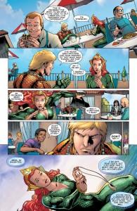 Secret Origins 5 - Mera - Mera flees a diner in panic