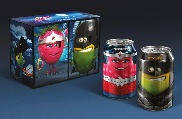 DC heroes juice cans 2