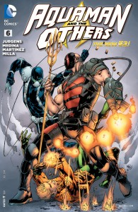 KGBeast fighting the Operative and Aquaman