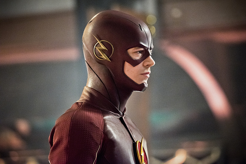 """The Flash -- """"Rogue Time"""" -- Image FLA116B_0142b -- Pictured: Grant Gustin as Barry Allen / The Flash -- Photo: Dean Buscher/The CW -- © 2015 The CW Network, LLC. All rights reserved."""