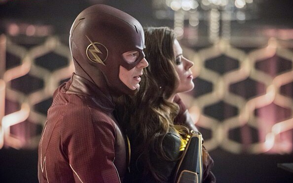 """The Flash -- """"Rogue Time"""" -- Image FLA116B_0149b -- Pictured (L-R): Grant Gustin as Barry Allen/Flash and Peyton List as Lisa Snart -- Photo: Dean Buscher/The CW -- © 2015 The CW Network, LLC. All rights reserved."""