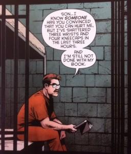 Batman Eternal 50 Jim Gordon reads a book