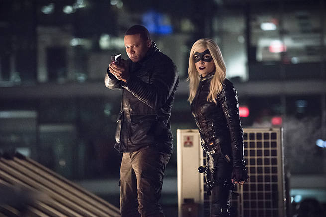 "Arrow -- ""Al Sah-Him"" -- Image AR321A_0231b -- Pictured (L-R): David Ramsey as John Diggle and Katie Cassidy as Black Canary -- Photo: Dean Buscher/The CW -- © 2015 The CW Network, LLC. All Rights Reserved."