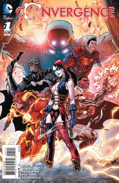 Convergence #1 variant cover (art by Tony Daniel with Mark Morales and Tomeu Morey)