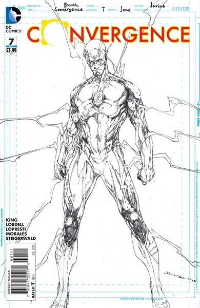 Convergence #7 sketch variant cover (art by Brett Booth)