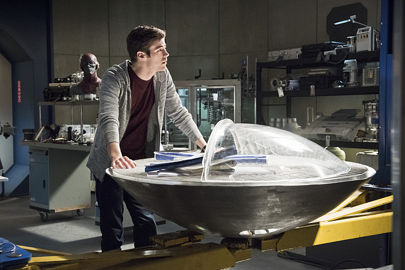 "The Flash -- ""Fast Enough"" -- Image FLA123C_0229b -- Pictured: Grant Gustin as Barry Allen -- Photo: Dean Buscher/The CW -- © 2015 The CW Network, LLC. All rights reserved."