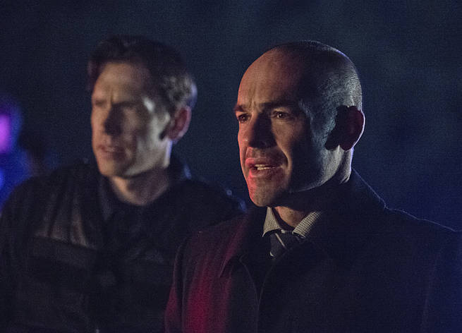 """Arrow -- """"My Name is Oliver Queen"""" -- Image AR323C_0389b -- Pictured: Paul Blackthorne as Quentin Lance -- Photo: Cate Cameron/The CW -- © 2015 The CW Network, LLC. All Rights Reserved."""
