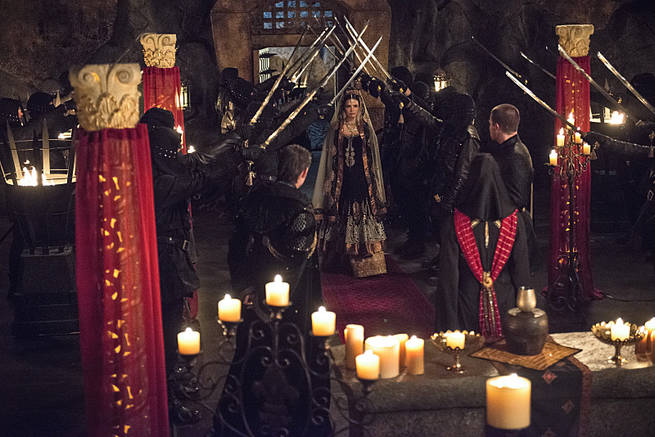 """Arrow -- """"This is Your Sword"""" -- Image AR322A_0232b -- Pictured: Katrina Law as Nyssa al Ghul -- Photo: Cate Cameron/The CW -- © 2015 The CW Network, LLC. All Rights Reserved."""