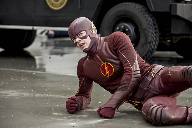 """The Flash -- """"Grodd Lives"""" -- Image FLA121A_0085b -- Pictured: Grant Gustin as The Flash -- Photo: Cate Cameron/The CW -- © 2015 The CW Network, LLC. All rights reserved."""