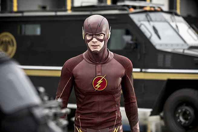 """The Flash -- """"Grodd Lives"""" -- Image FLA121A_0079b -- Pictured: Grant Gustin as The Flash -- Photo: Cate Cameron/The CW -- © 2015 The CW Network, LLC. All rights reserved"""