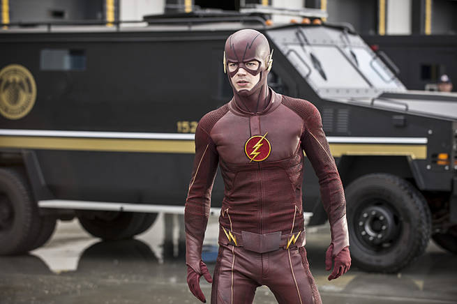 "The Flash -- ""Grodd Lives"" -- Image FLA121A_0072b -- Pictured: Grant Gustin as The Flash -- Photo: Cate Cameron/The CW -- © 2015 The CW Network, LLC. All rights reserved."