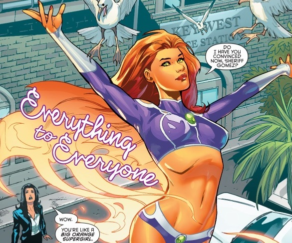 Starfire Graces The Pages Of DC With Her Own New Serious Bombshell Meta Landing On Earth She Wants To Make A Home In Peace Help