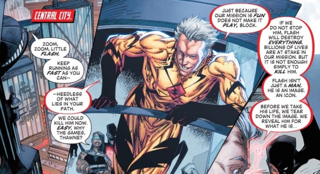 """Professor Zoom has plans to destroy the Flash once and for all...and it includes a little """"family history"""". First strike in issue #43!"""
