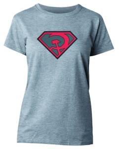 SUPERMAN RED SUN SYMBOL WOMENS T/S MED 	$18.95