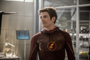 """The Flash -- """"The Man Who Saved Central City"""" -- Image FLA201b_0076b -- Pictured: Grant Gustin as Barry Allen/ The Flash -- Photo: Cate Cameron /The CW -- © 2015 The CW Network, LLC. All rights reserved"""