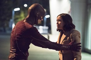"""The Flash -- """"Enter Zoom"""" -- Image FLA206A_0111b.jpg -- Pictured (L-R): Grant Gustin as The Flash and Malese Jow as Linda Park -- Photo: Dean Buscher/The CW -- © 2015 The CW Network, LLC. All rights reserved."""