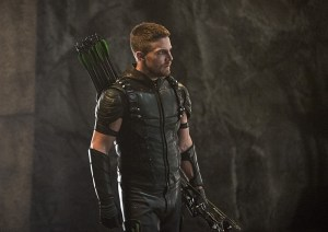 """Arrow -- """"Haunted"""" -- Image AR404B_0209b.jpg -- Pictured: Stephen Amell as The Arrow -- Photo: Cate Cameron/ The CW -- © 2015 The CW Network, LLC. All Rights Reserved."""