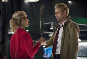 "Arrow -- ""Haunted"" -- Image AR404B_0050b.jpg -- Pictured (L-R) Emily Bett Rickards as Felicity Smoak and Matt Ryan as Constantine -- Photo: Cate Cameron/ The CW -- © 2015 The CW Network, LLC. All Rights Reserved."