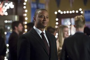 "Arrow -- ""Dark Waters"" -- Image AR409B_0132b.jpg -- Pictured: David Ramsey as John Diggle -- Photo: Diyah Pera/ The CW -- © 2015 The CW Network, LLC. All Rights Reserved."