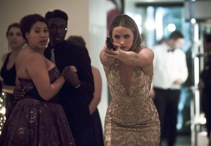 """The Flash -- """"Potential Energy"""" -- Image FLA210b_0107b -- Pictured: Shantel Van Santen as Detective Patty Spivot -- Photo: Katie Yu/The CW -- © 2016 The CW Network, LLC. All rights reserved."""