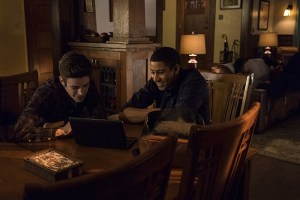 """The Flash -- """"King Shark"""" -- Image FLA215a_0111 -- Pictured (L-R): Grant Gustin as Barry Allen / The Flash and Keiynan Lonsdale as Wally West -- Photo: Cate Cameron/The CW -- © 2016 The CW Network, LLC. All rights reserved"""