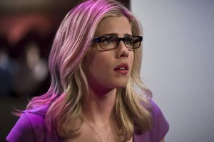 "Arrow -- ""Code of Silence"" -- Image AR414b_0075b.jpg -- Pictured:  Emily Bett Rickards as Felicity Smoak -- Photo: Katie Yu/ The CW -- © 2016 The CW Network, LLC. All Rights Reserved."