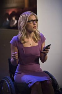 "Arrow -- ""Code of Silence"" -- Image AR414b_0050b.jpg -- Pictured:  Emily Bett Rickards as Felicity Smoak -- Photo: Katie Yu/ The CW -- © 2016 The CW Network, LLC. All Rights Reserved."