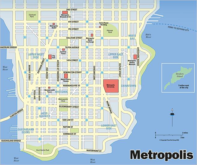 Gotham & Metropolis City Maps Revealed - DC Comics News