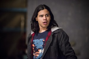 "The Flash -- ""Welcome to Earth-2"" -- Image FLA213a_0131b -- Pictured: Carlos Valdes as Cisco Ramon -- Photo: Diyah Pera/The CW -- © 2016 The CW Network, LLC. All rights reserved."