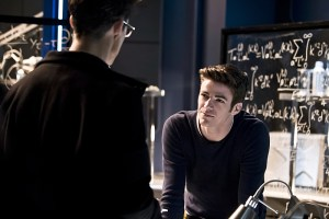 """The Flash -- """"Fast Lane"""" -- Image: FLA212B_0071b.jpg -- Pictured: Grant Gustin as Barry Allen -- Photo: Katie Yu/The CW -- © 2016 The CW Network, LLC. All rights reserved."""