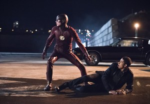 """The Flash -- """"Fast Lane"""" -- Image: FLA212A_0038b.jpg -- Pictured (L-R): Grant Gustin as The Flash and Keiynan Lonsdale as Wally West -- Photo: Dean Buscher/The CW -- © 2016 The CW Network, LLC. All rights reserved."""