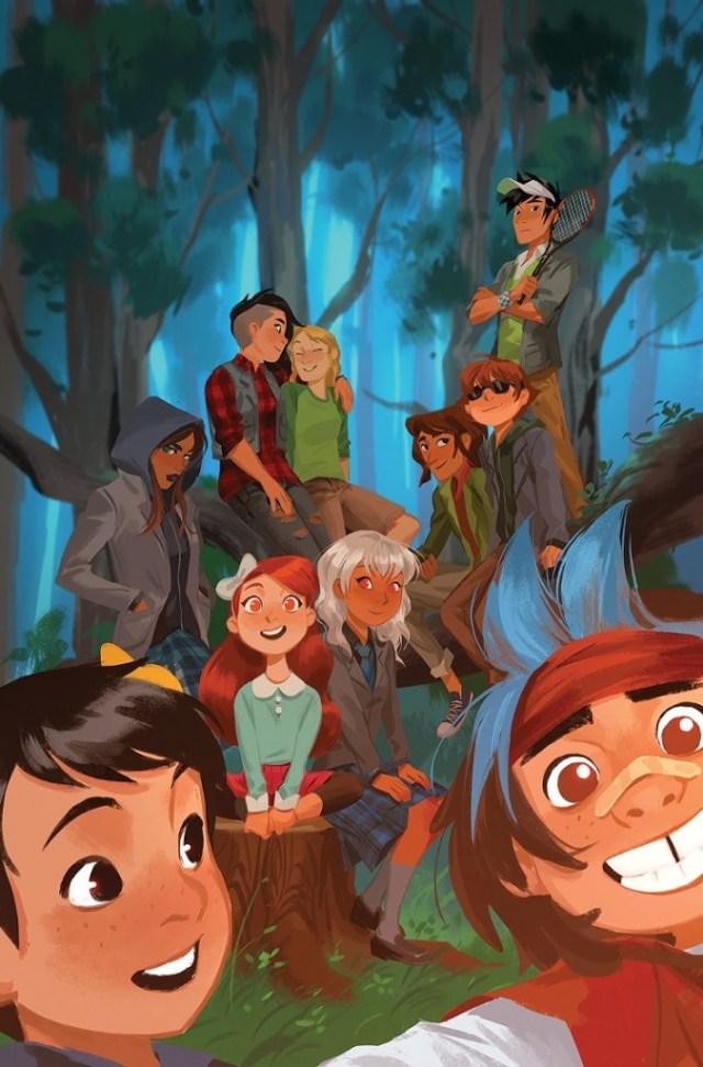 LumberjanesGotham Academy #1 by Mingjue Chen dc comics news