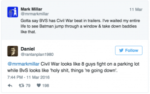 BvS vs Civil War dc comics news