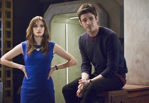 "The Flash -- ""Versus Zoom"" -- Image: FLA218A_0177b.jpg -- Pictured (L-R): Danielle Panabaker as Caitlin Snow and Grant Gustin as Barry Allen -- Photo: Cate Cameron/The CW -- © 2016 The CW Network, LLC. All rights reserved."