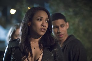 """The Flash -- """"The Race of His Life"""" -- Image: FLA223b_0102b.jpg -- Pictured (L-R): Candice Patton as Iris West and Keiynan Lonsdale as Wally West -- Photo: Katie Yu/The CW -- © 2016 The CW Network, LLC. All rights reserved."""