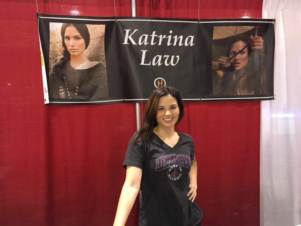 Katrina Law of Arrow and Spartacus.