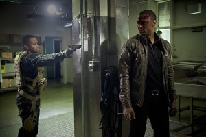 "Arrow -- "" Genesis"" -- Image AR420a_0319b.jpg -- Pictured (L-R): Eugene Byrd as Andy Diggle and David Ramsey as John Diggle -- Photo: Diyah Pera/The CW -- © 2016 The CW Network, LLC. All Rights Reserved."